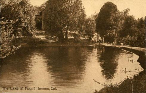 The Lake at Mount Hermon, 1913.