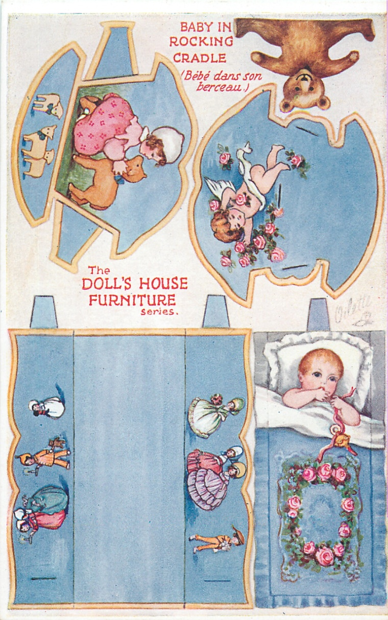 Baby in Rocking Cradle