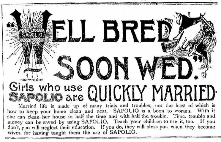 Sapolio from San Antonio Daily Express 1890 02-21