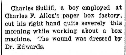 From the Gloversville Daily Leader, May 12, 1898.