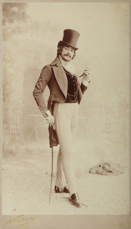 A Paris dandy, circa 1890.
