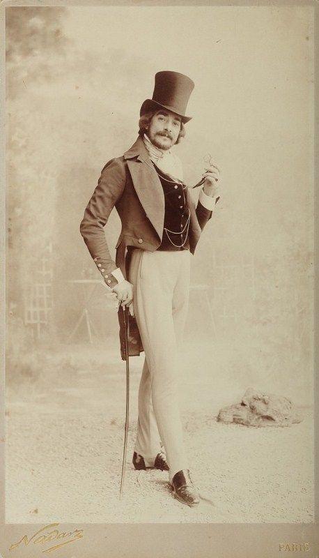 A Paris dandy, circa 1890.