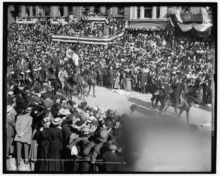 A New York parade, circa 1899