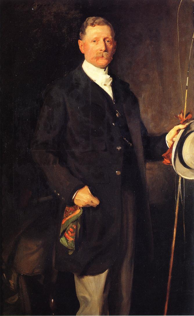 Captain John Spicer, dressed to go fishing, by John Singer Sargent, 1901.