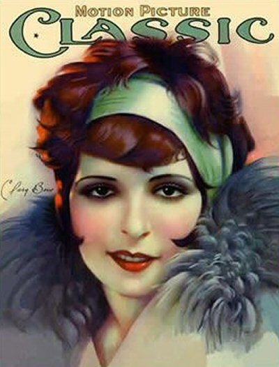 Actress Clara Bow on the cover of a 1920s magazine.
