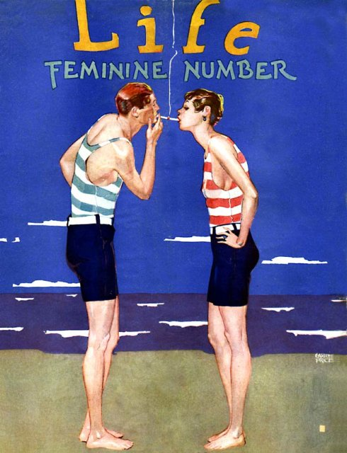 Life magazine cover from the 1920s.