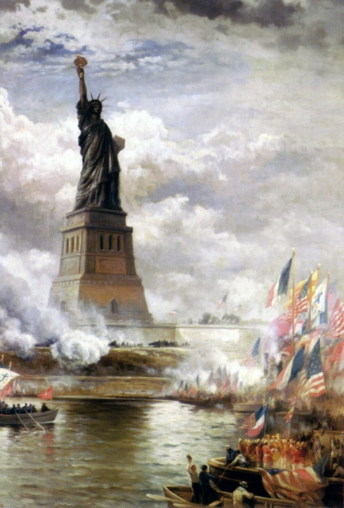 """Unveiling the Statue of Liberty,"" by Edward Percy Moran, 1886."