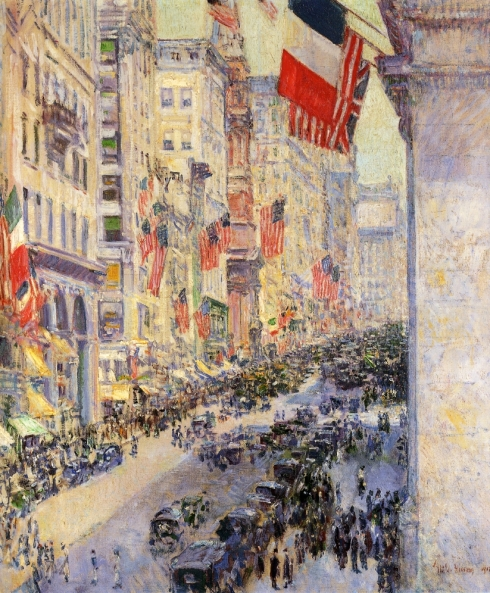 """Up the Avenue from 34th Street"" by Frederick Childe Hassam (1917)"