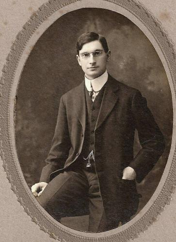 A young gentleman with his gold watch and chain. From OldFamilyPhotos.com