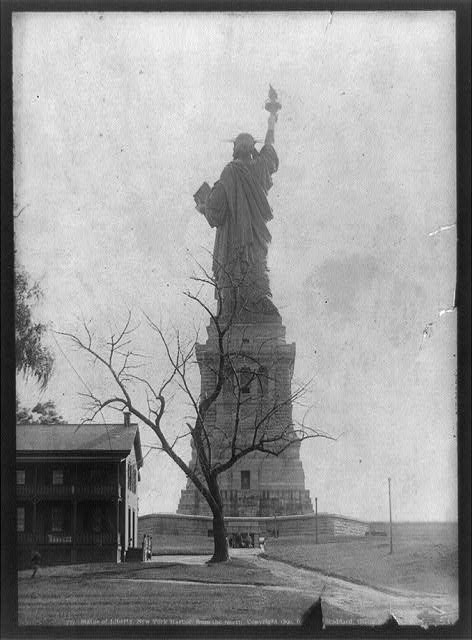 Undated photo of the Statue of Liberty in New York Harbor, viewed from the north.