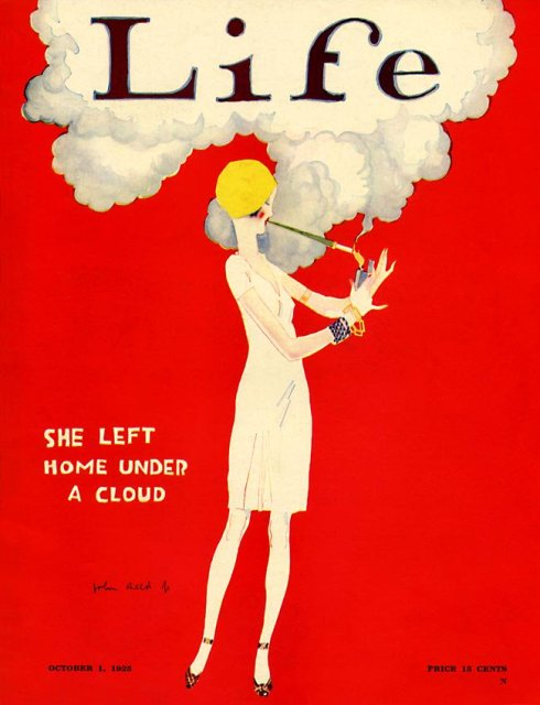 Cover of a 1925 edition of Life magazine.