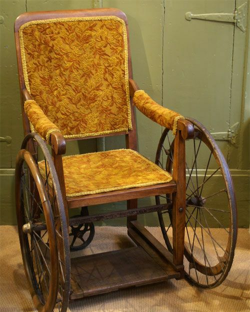 A Victorian-era wheelchair (from Pinterest)