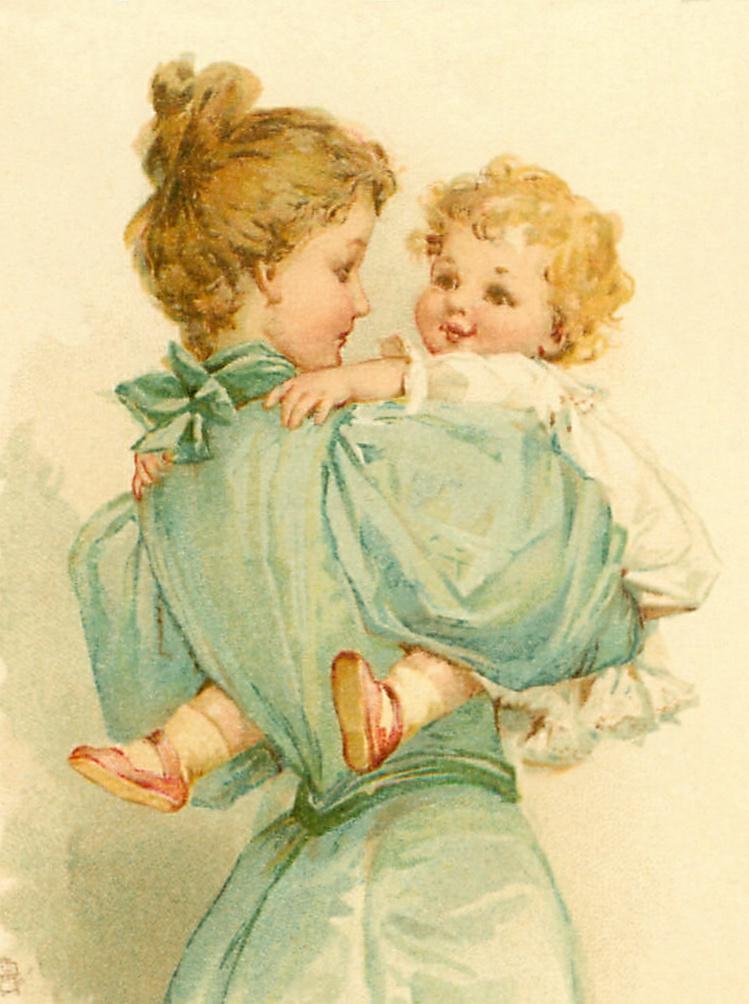 Frances-Brundage_Mother-holding-baby-1901