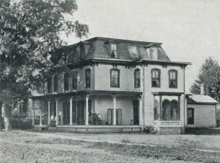 The Maples, where the nursing staff lived on the Sanitarium grounds.