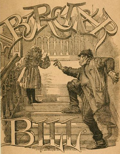 Illustration from 1889 edition of Burglar Bill by F. Anstey