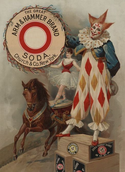 Trade card for Arm and Hammer Baking Soda, 1900.
