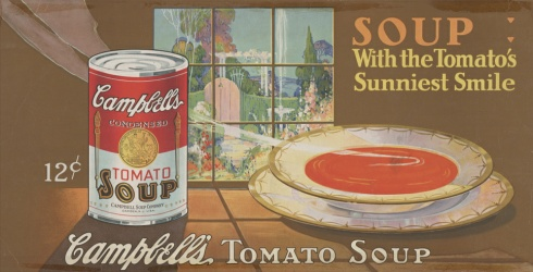 Campbell's soup print ad from about 1920