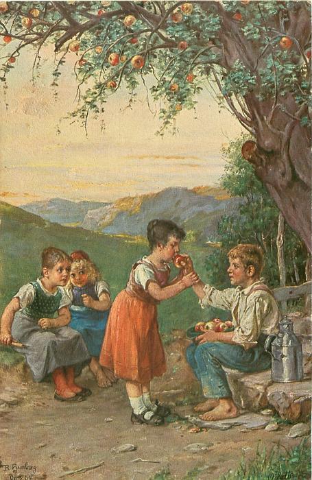 children-under-an-apple-tree
