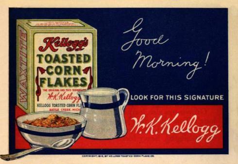 Kellogg's magazine ad, 1915