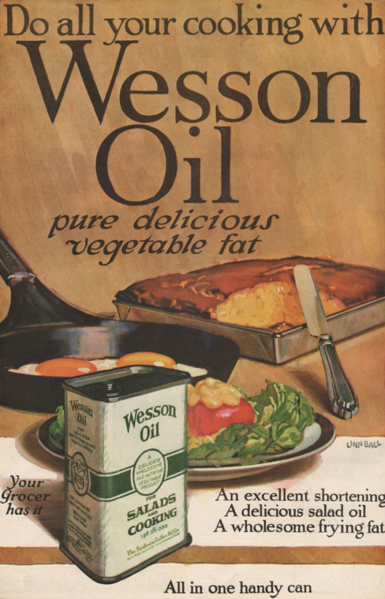 Print ad for Wesson Oil from the Ladies Home Journal, 1919