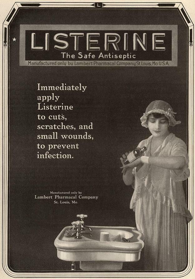 Magazine ad for Listerine, 1917.