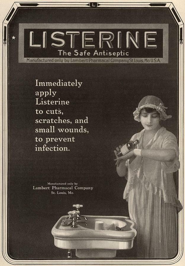Magazine ad for Listerine, 1917.