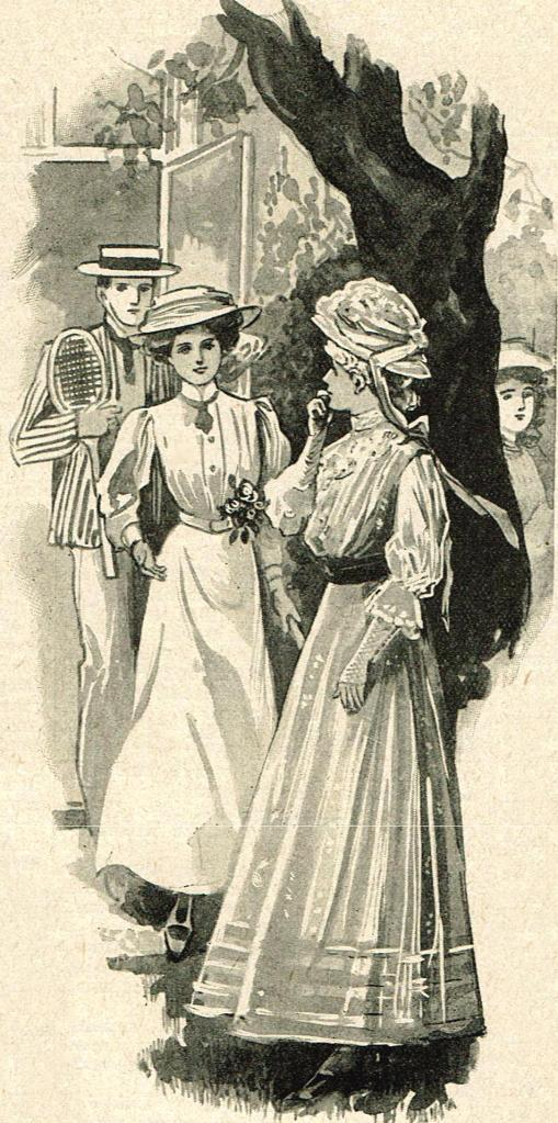 Illustration of a young woman and man approaching a second woman, who appears unsure if she wants to speak with them.